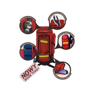Zestaw ratownictwa medycznego PSP R-1 w torbie z kompletem szyn Kramera w osobnej torbie