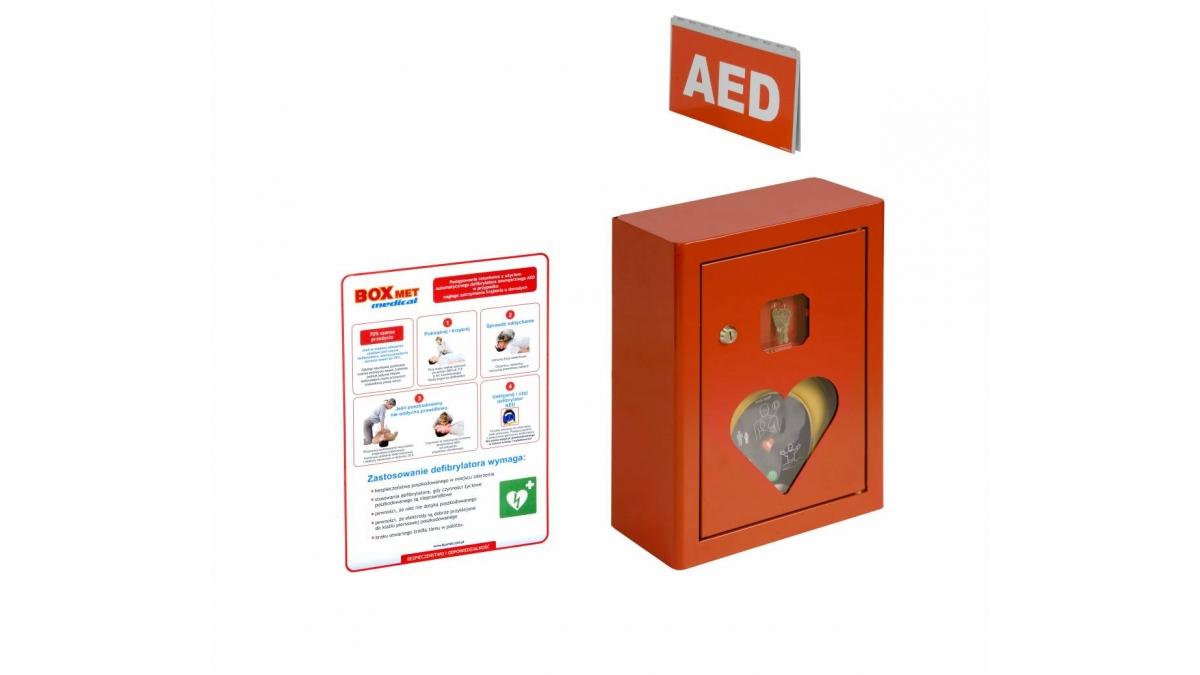 Szafka na defibrylator 420/300/150