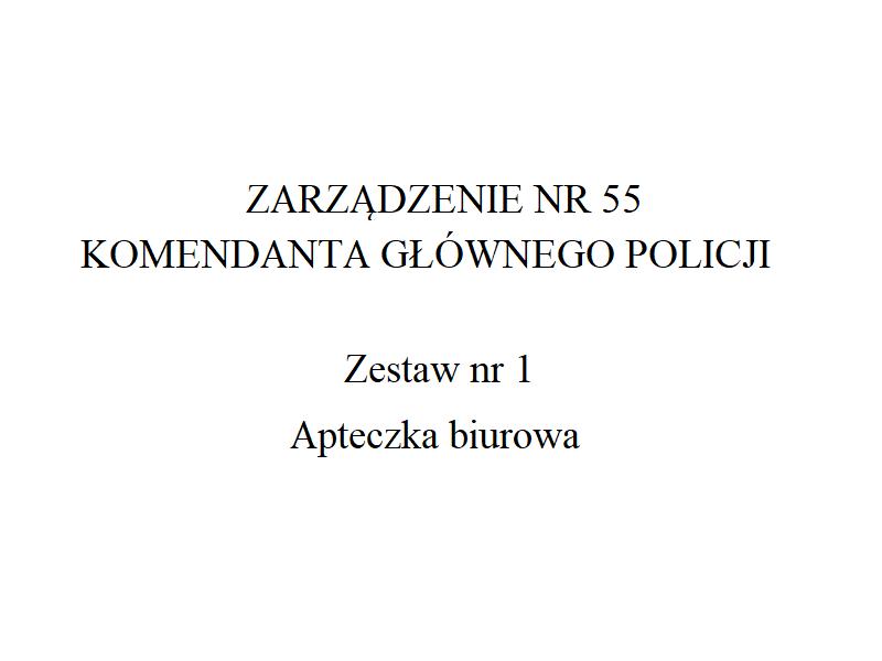Apteczka biurowa Policji