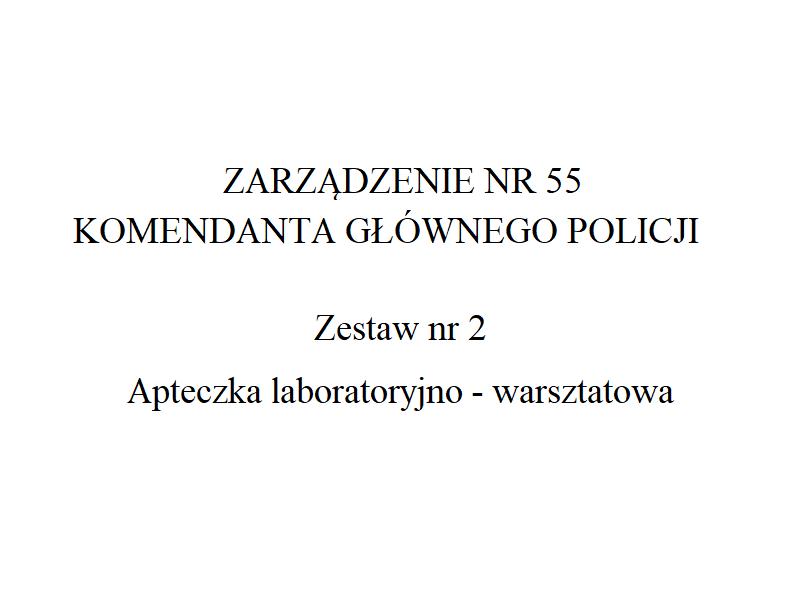 Apteczka laboratoryjno – warsztatowa Policji