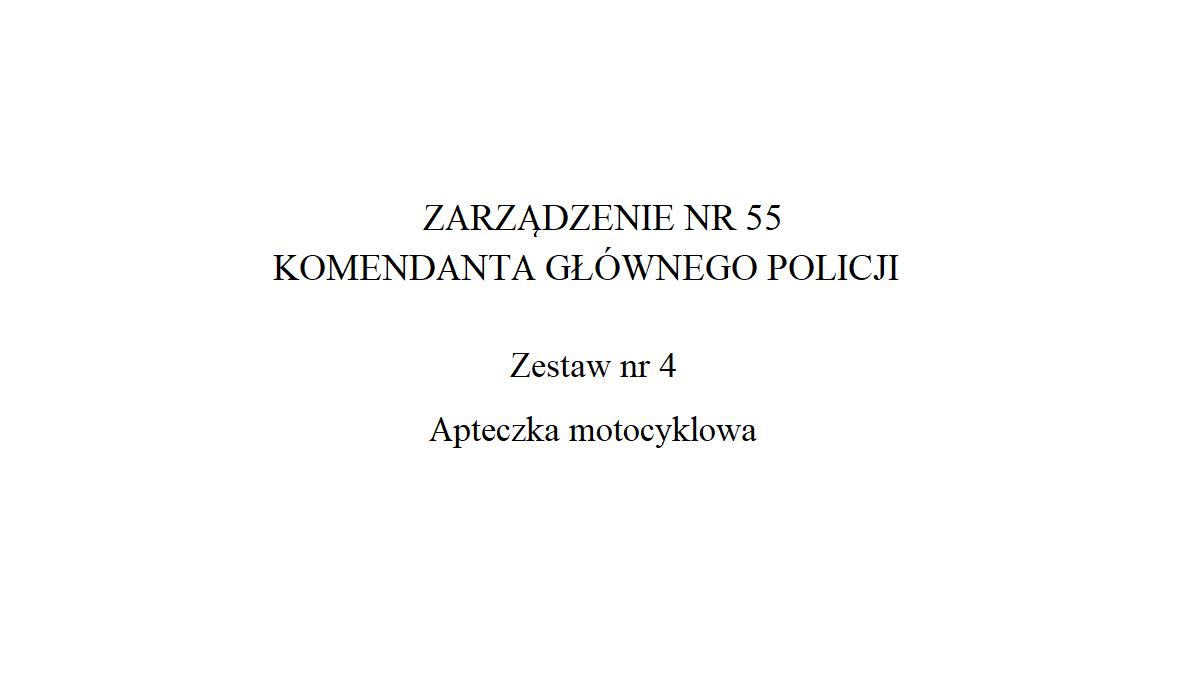 Apteczka motocyklowa Policji