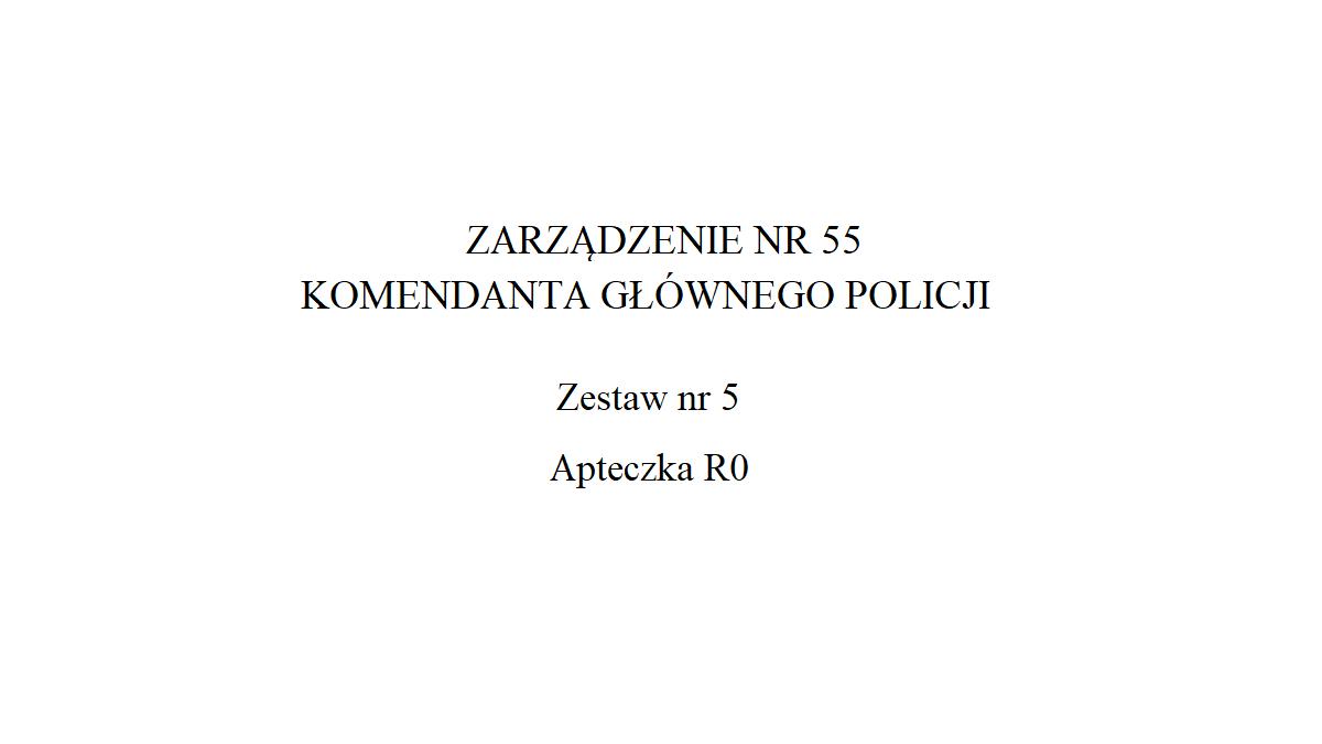 Apteczka R0 Policji