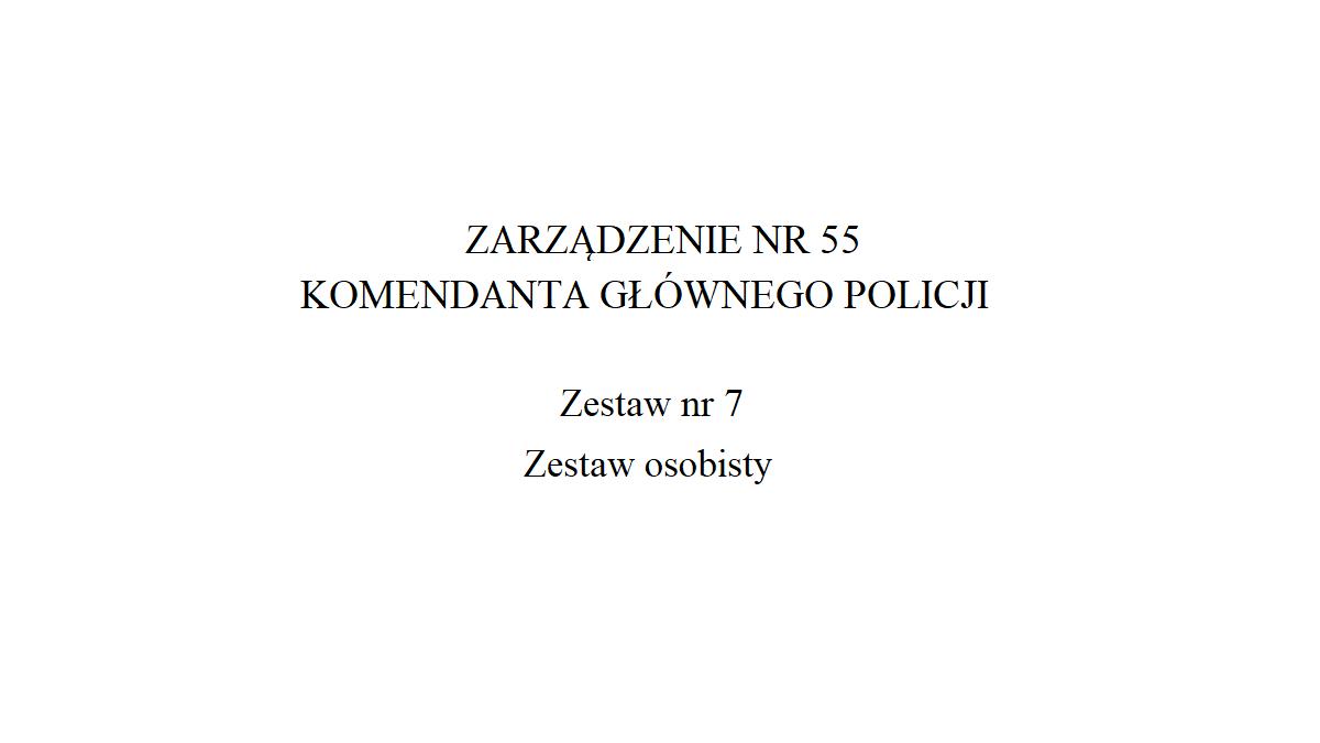 Zestaw osobisty Policji