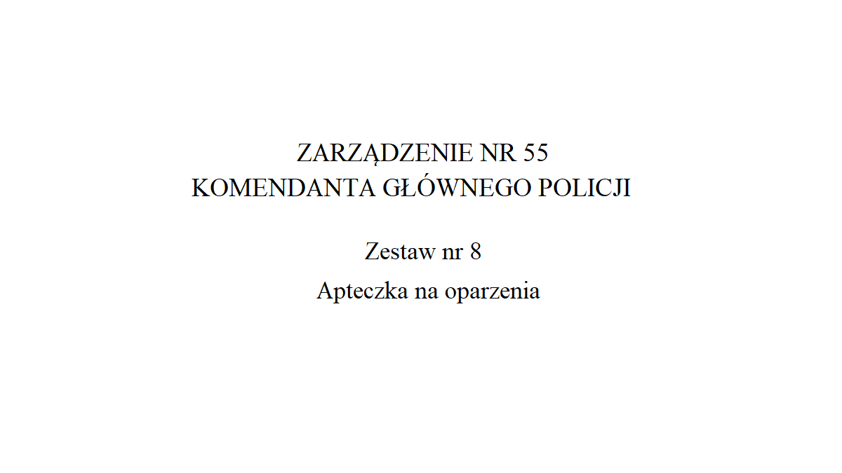 Apteczka na oparzenia Policji